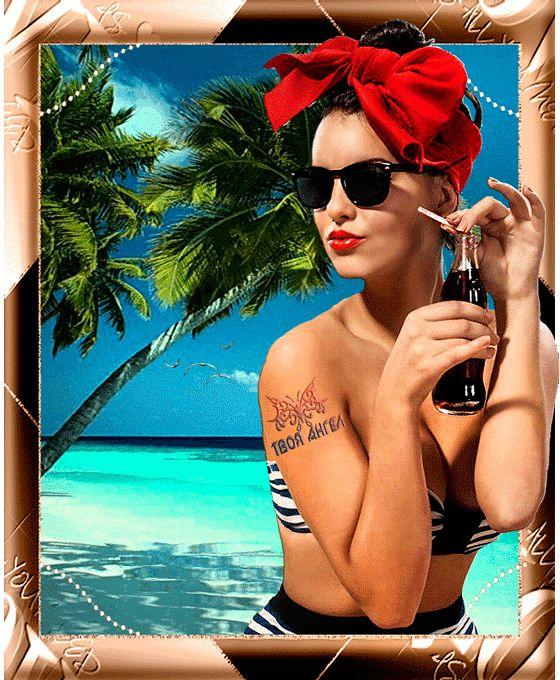 Девушка на пляже, Красивые девушки картинки
