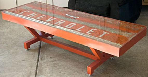 Old Chevrolet Sign Table - cool!