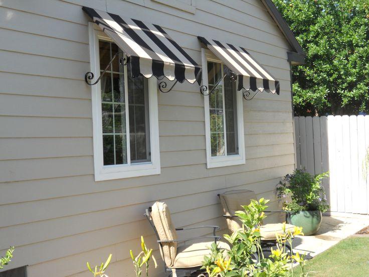 image canvas window awnings | custom-canvas-window-awnings-stripped-