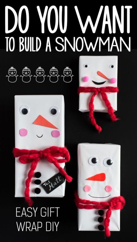Do You Want To Build A Snowman? EASY and FUN Gift Wrap Tutorial