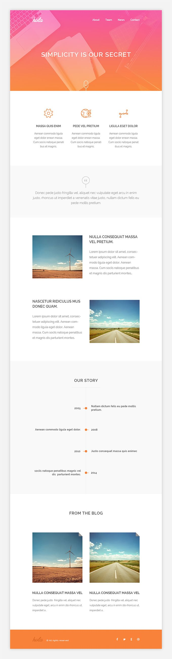Hola is an Email HTML Template with clean and beautiful design. It's very simple and easily adaptive to your purposes.