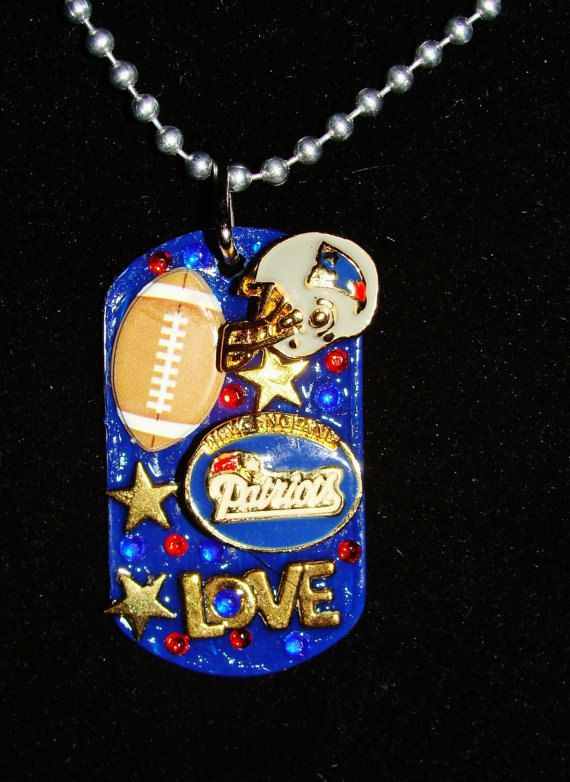 Dog Tag Necklace NFL New England Patriots football by Forever peace