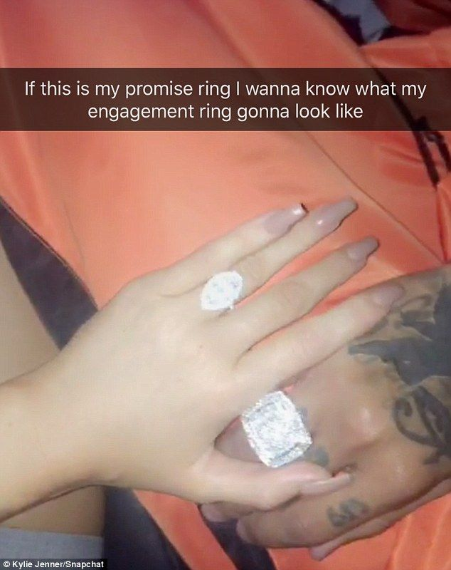 Think bigger: The 19-year-old described the hefty bling as a promise ring and hinted she expected even more in an engagement ring