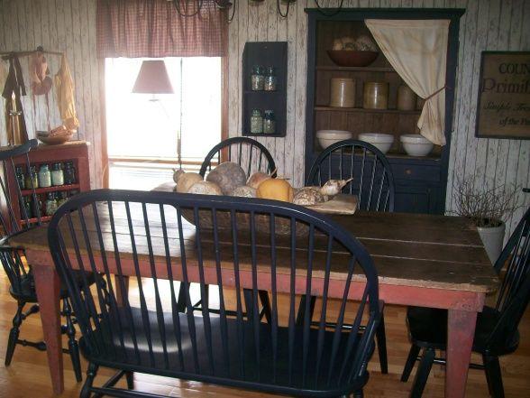 Primitive decor rooms new primitive dining room for Primitive dining room ideas