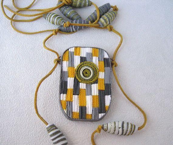 groot ketting hanger sieraden Gray Gift haar polymeer klei