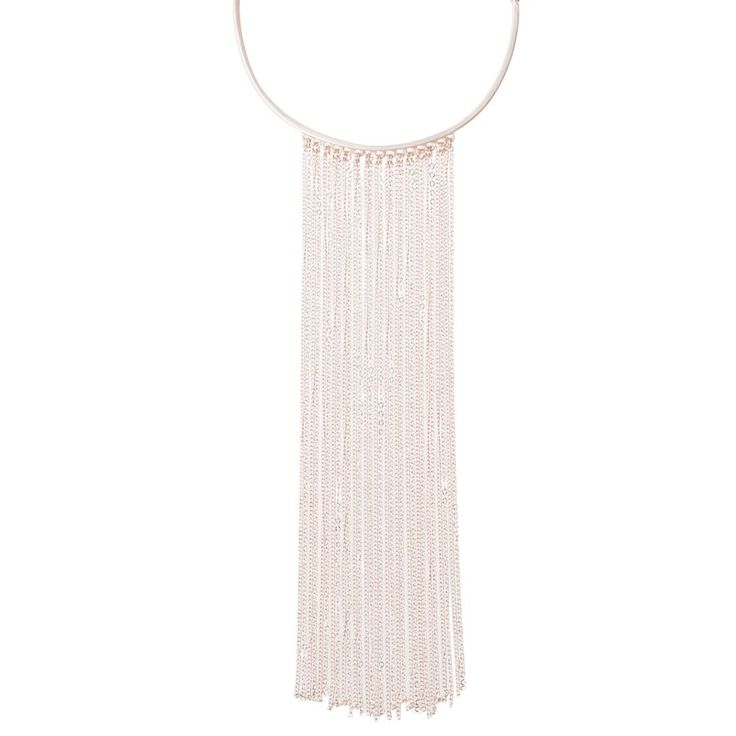 This chain tassel choker necklace makes a statement - wear on its own or add some fine layered choker styles.
