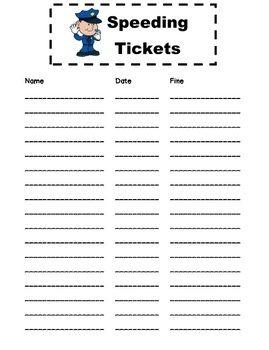 Speeding Tickets for portfolio