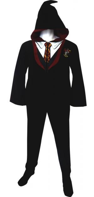 WebUndies.com Harry Potter Gryffindor House Uniform Hooded Footie Pajama