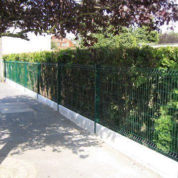 Plaque droite pour clôture en béton