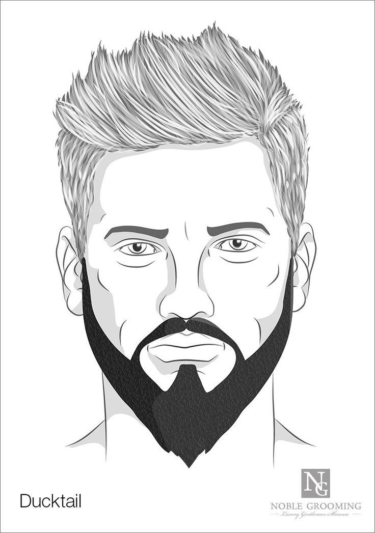 Ducktail Beard Style