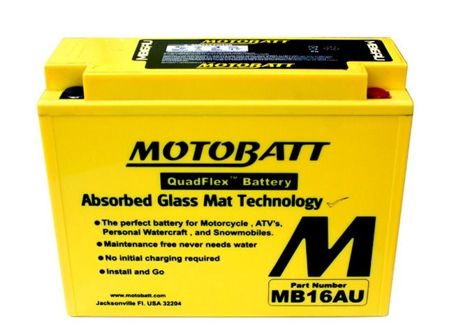 Image Batterie Gel Motobatt YB16ALA2 Ducati Monster, 748 Biposto, Supersport, 851, 888, Ducati SS, 916, Senna, ST2, ST4, 996, Yamaha Virago 700, V-MAX 1200