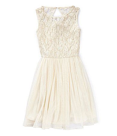 GB Girls 716 LaceBodice Swing Dress #Dillards