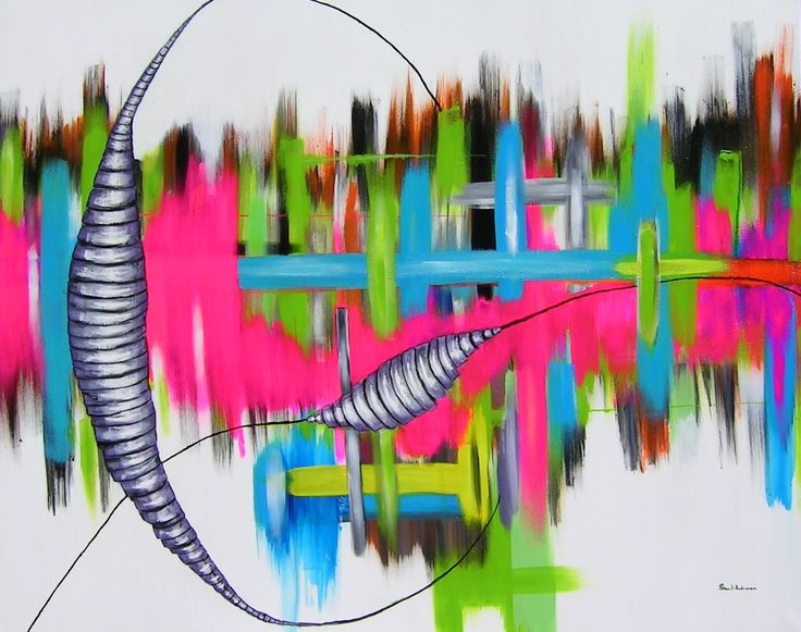 """""""Heroin"""" 150x120x2 cm Acryl on canvas"""