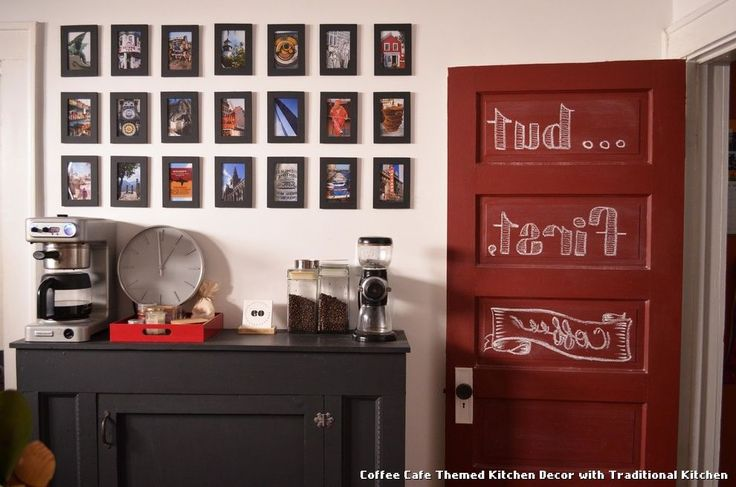 Coffee Cafe Themed Kitchen Decor with Traditional Kitchen with a Coffee