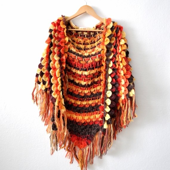 crochet shawl THIS I've got to make. I Love it and it has my colors in it....Honkin' Orange!!! I really love this. Pattern?cj
