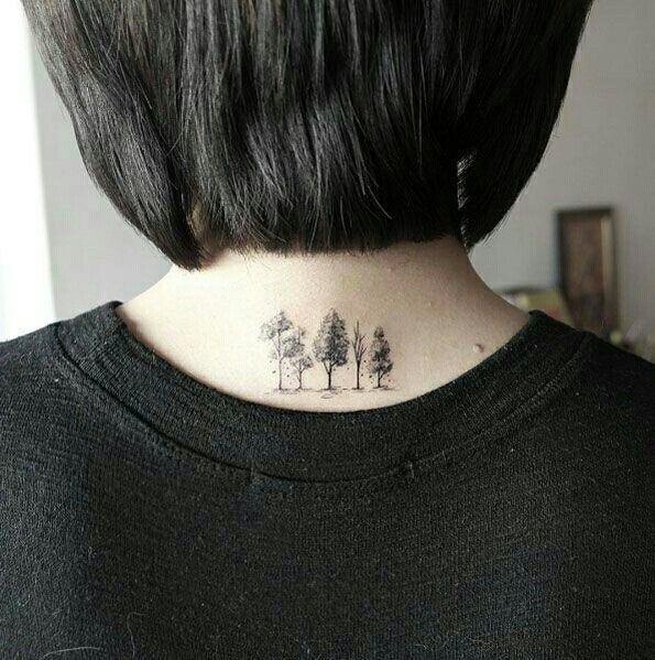 Small tree tattoos