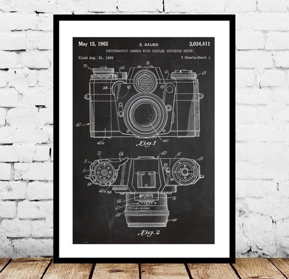 Camera Poster Vintage Camera Patent Vintage by STANLEYprintHOUSE
