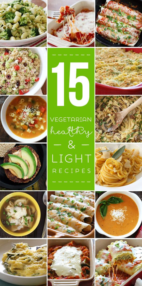 968 best vegetarian cooking images on pinterest vegetarian food 15 light and healthy vegetarian recipes forumfinder Images