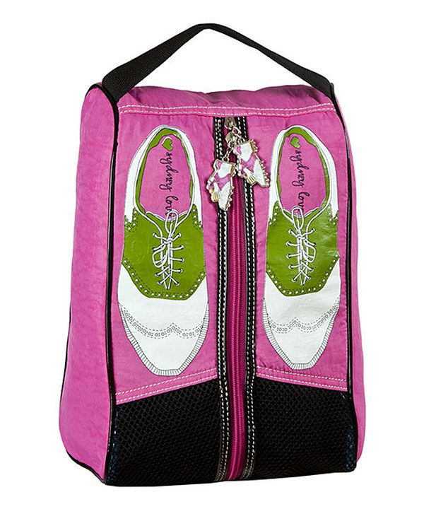 Loving this Sydney Love Pink & Green Golf Shoes Shoe Bag on #zulily! #zulilyfinds