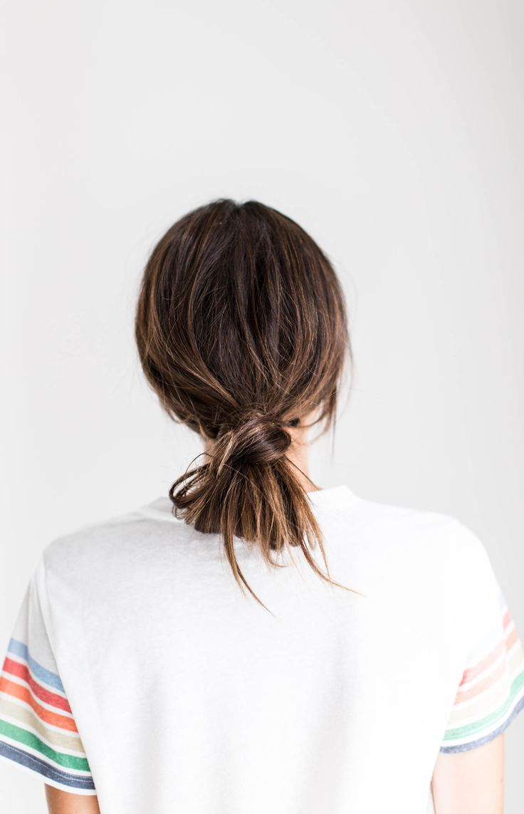 low loose knot hairstyle