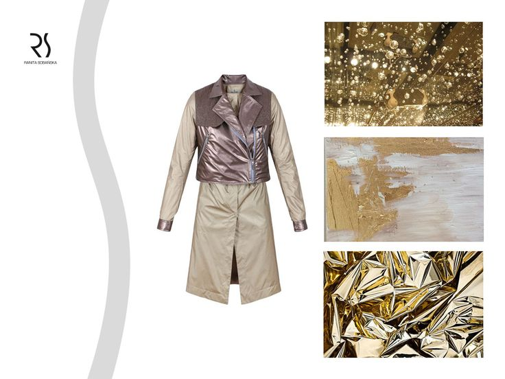 gold metallic coat - Ranita Sobanska  #rs #moodboard #fashion #ReadyToWear #PolishFashionDesigner #FashionDesigner #designer #sportfashion #ModaPolska #PolscyProjektanci #gold #metallic #coat