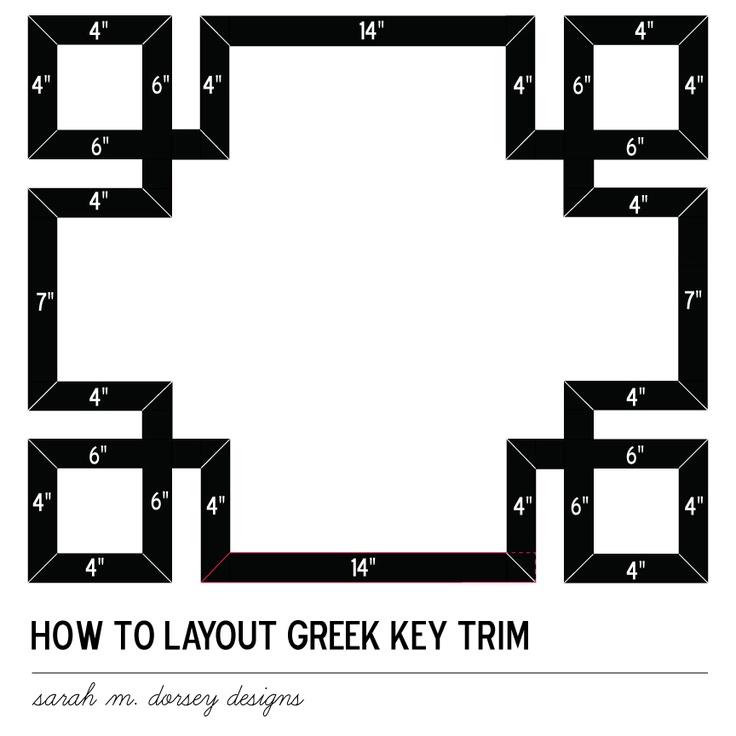 sarah m. dorsey designs: How TO apply greek key trim to a pillow