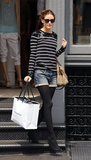 Olivia Palermo Shorts at Fall