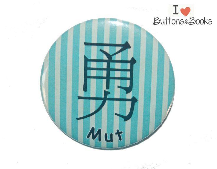 MUT+chinesisches+Zeichen++Ansteckbutton+50mm+von+Buttons&Books+auf+DaWanda.com