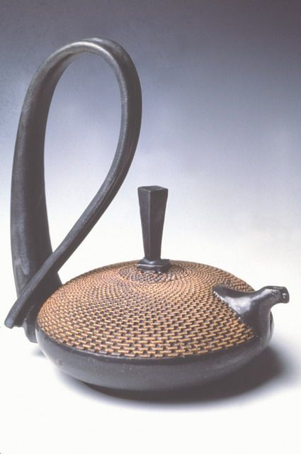 Handmade black and brown pottery teapot by Ragnar Naess, Potter at North River Pottery - Functional Pottery