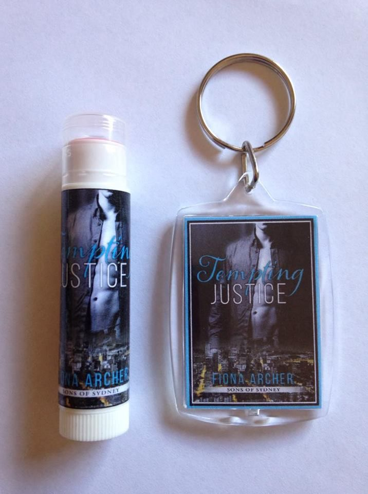 Tempting Justice, Sons of Sydney 2 - Lip balm and key ring.