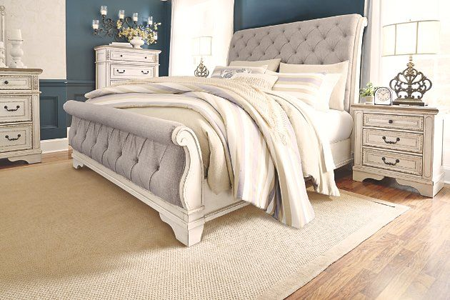 Realyn Queen Sleigh Bed Ashley, Queen Sleigh Bed Ashley Furniture