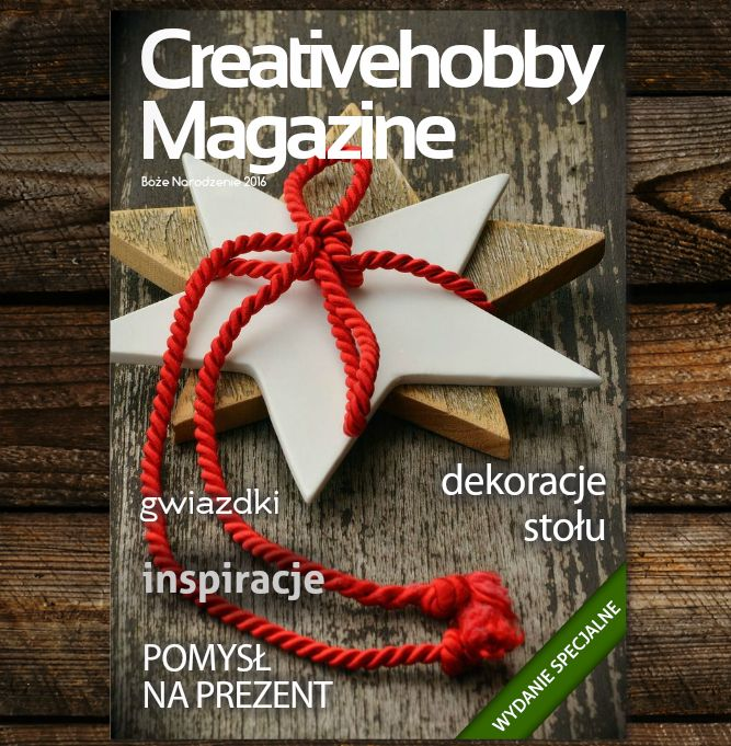 Polecamy lekturę Wydania Specjalnego Creativehobby Magazine. Znajdziecie w nim świąteczne inspiracje DIY, pomysły na prezenty i wiele innych ciekawych rzeczy: http://bit.ly/2gpkzWq