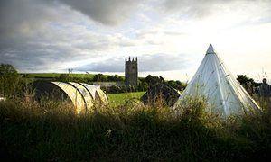 Highertown Farm campsite, Cornwall