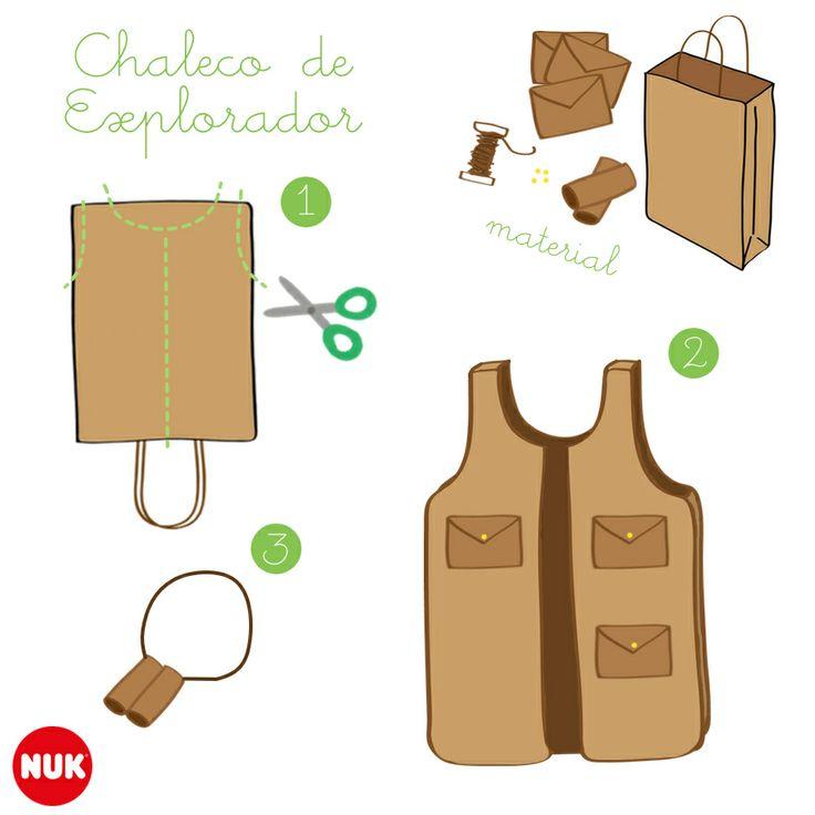 Crea tu propio chaleco de explorador! :)  http://www.bebesnuk.com/chaleco-de-explorador/