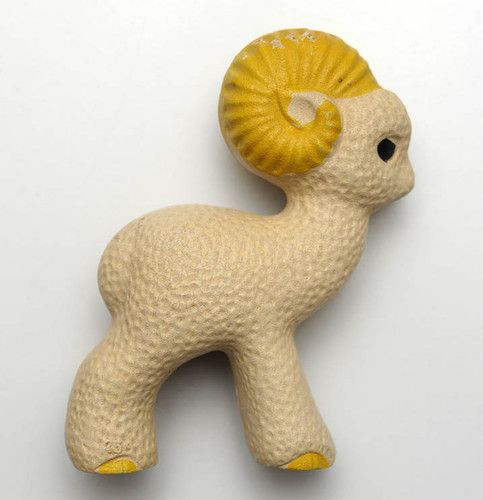 1950s Soviet Russia RUSSIAN  VINTAGE Rubber Toy SHEEP ,  Made in USSR