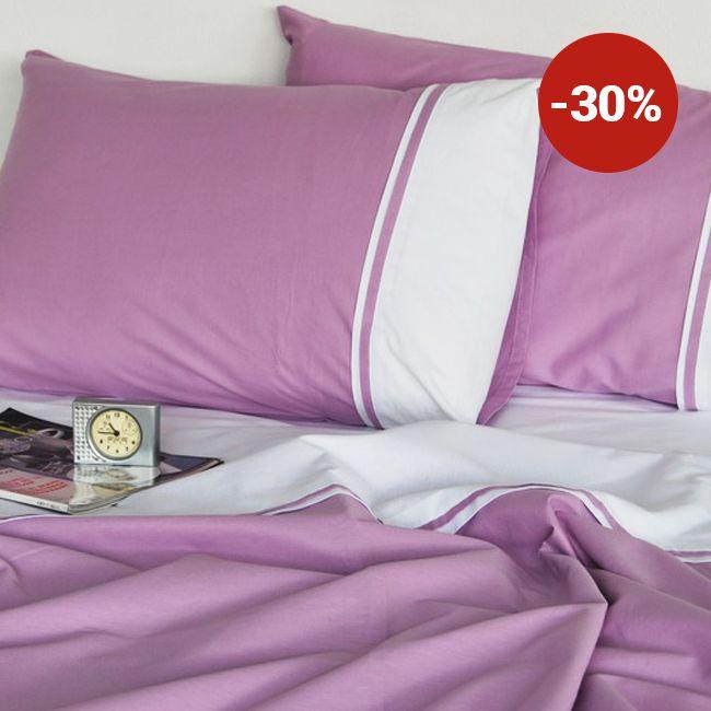 Lenjerie de pat din bumbac Valentini Bianco VKR20 Mauve