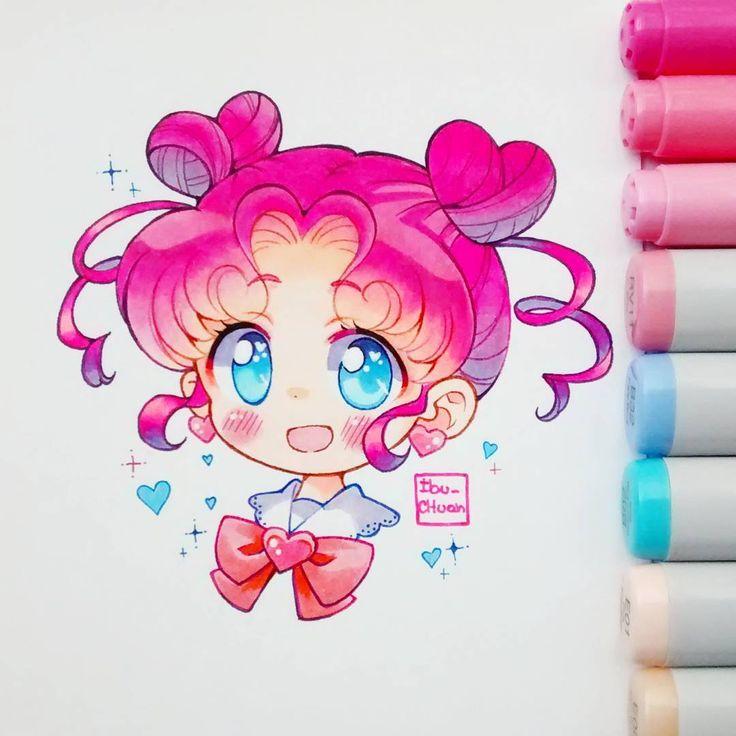 "30.6k Likes, 114 Comments - Ibu  (@ibu_chuan) on Instagram: ""Chibi chibi, anime: #sailormoon  Ella es un encanto ;w;) """