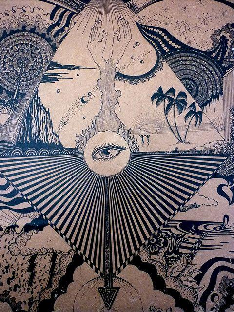 Universal Vision #ravenectar #visionaryart #art #trippy #psychedelic #sacred
