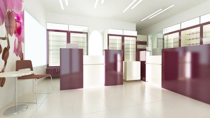 Counter inalt cu mai multe posturi de servire.  http://www.sertarefarmacii.ro/proiecte/