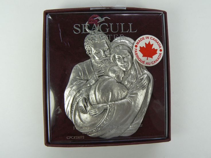 Seagull Pewter Canada Joseph Mary and Baby Jesus Pewter Ornament  MINT IOB | eBay