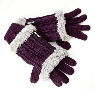 Muk Luks Classic Cable 3 in 1 Knitted Glove