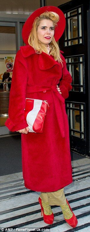 Paloma Faith arrives at the BBC Radio 2 Studios in London