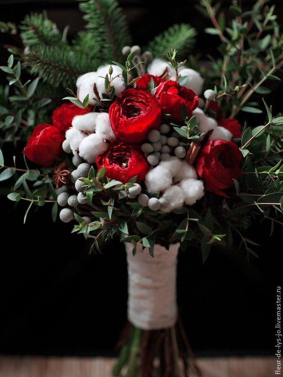 Купить Букет невесты / Свадебный букет - ярко-красный, букет невесты, свадебные аксессуары