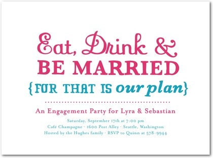 Cute engagement party invitation...