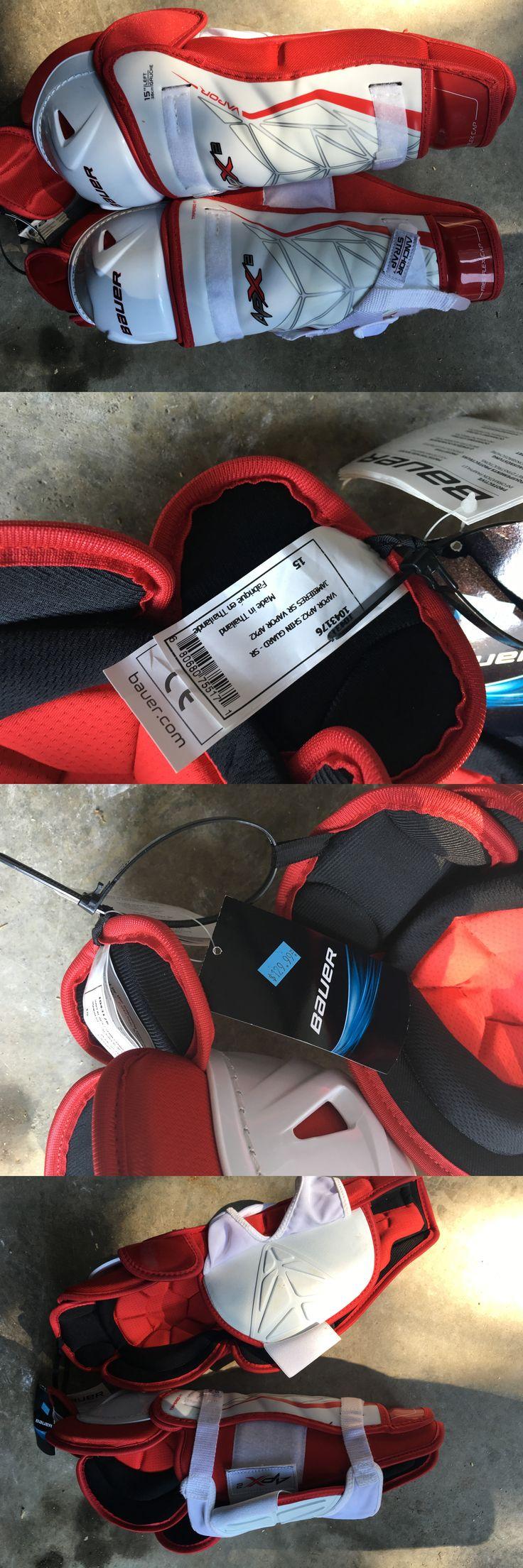 Helmets 20854: Bauer Vapor Apx2 Hockey Shin Pads - Senior Size 15 -> BUY IT NOW ONLY: $80 on eBay!