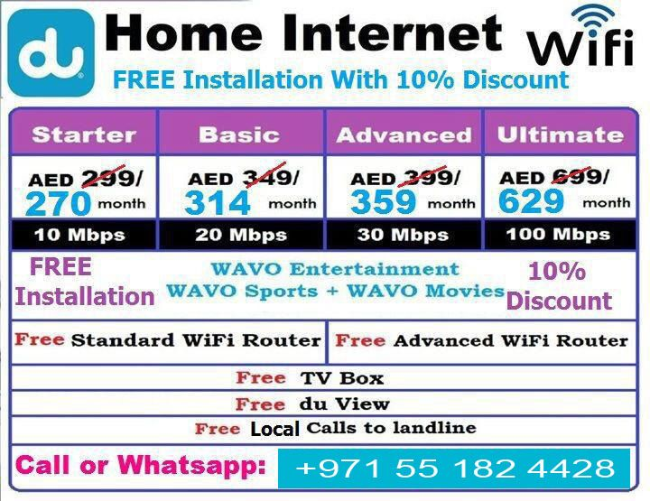 Du Wifi Offers Packages Home Internet Internet Packages Internet