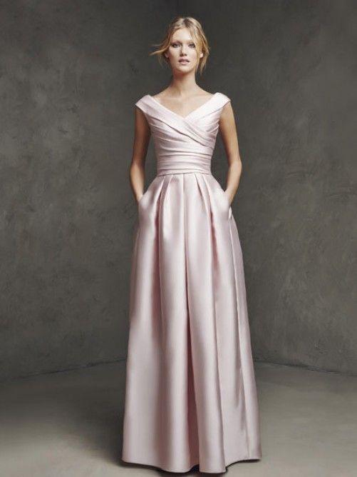 A-Linie/Princess-Stil V-Ausschnitt Ärmellos Rüschen Bodenlang Satin Kleider