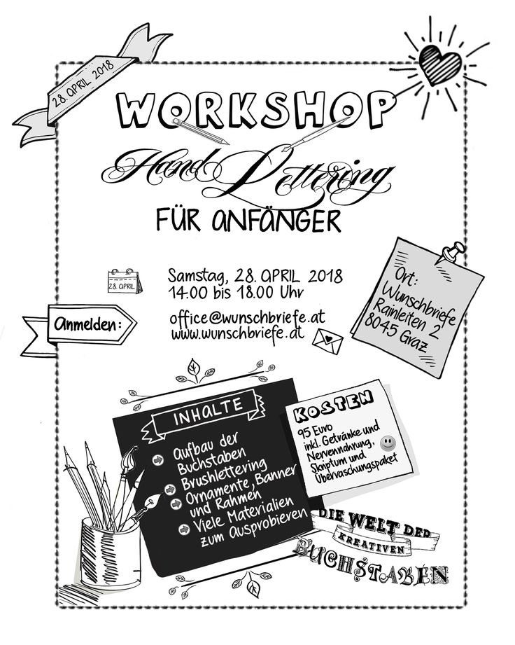 Handlettering Workshops with Elke Wunsch / Come to learn Brushlettering with me