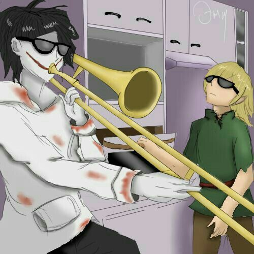 When Slenderman isn't home.