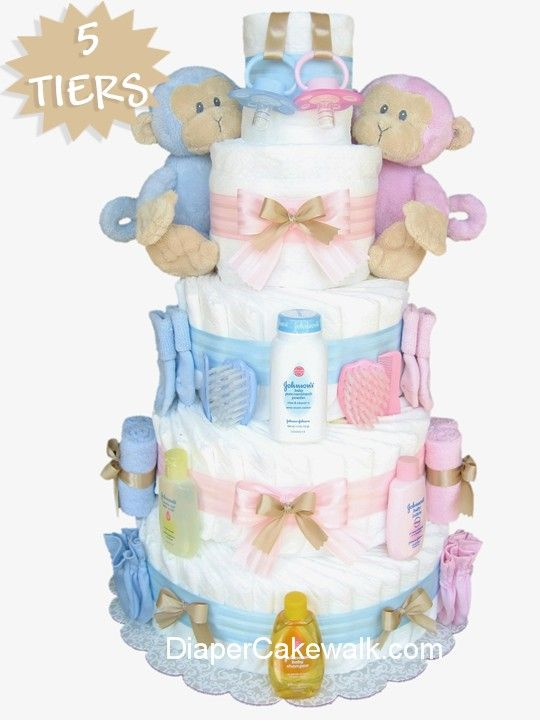 Diaper cake for a pink or blue baby shower centerpiece -my sister made one for a center piece for my shower. There were tons of diapers rolled up and all kinds of necessities throughout.